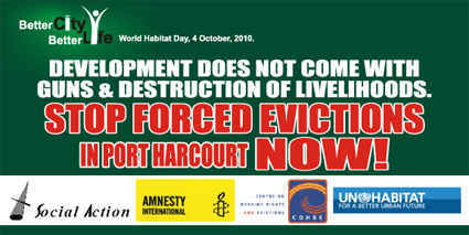 Port Harcourt. Nigeria. Stop Forced Evictions in Port Harcourt Now!