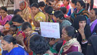 Hyderabad city slum people's federation demand 2BHK housing by 2019