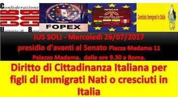 Italia, Manifestazione per lo IUS soli