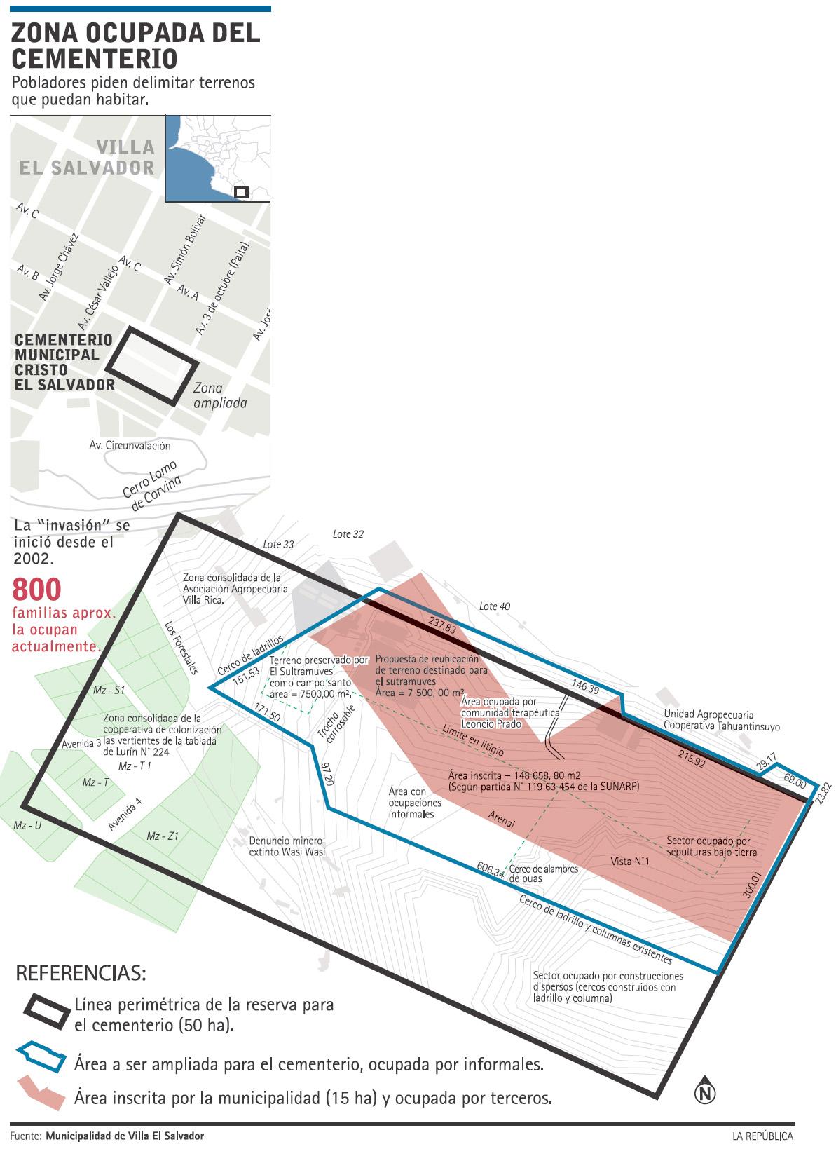 Mapa area ocupada villa el salvador peru images media for Plano de villa el salvador