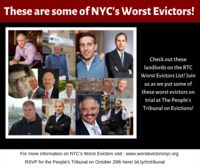 New York: the 2018 Worst Evictors in Neighborhoods Where Eviction Defense is A Right