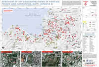 Overview of IDP concentrations in Port-au-prince and Carrefour, HAITI, enero 2010