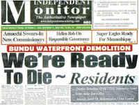 Report Bundu Waterfront Genocide, PORT HARCOURT, october 2009