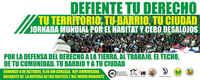 S. Domingo, Jornadas Mundiales por la Defensa del Hábitat, el Territorio y Cero Desalojos