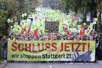 Stuttgart:S21, citizens rebellion, GERMANY, november 2010